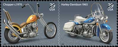 USPS Motorcycle Stamps