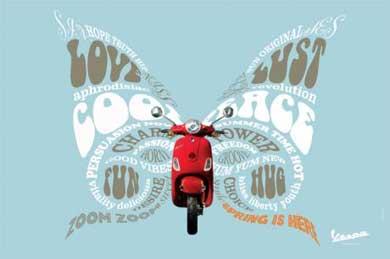 Dentsu's new Vespa Butterfly campaign