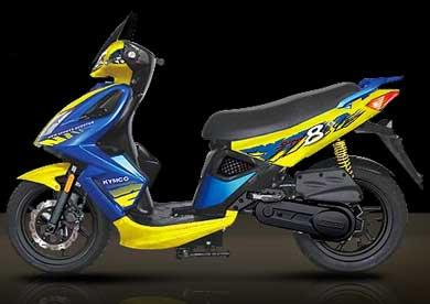 Kymco Super8 125cc, Photo courtesy Kymco