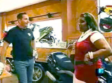 Phil Waters POC Scooters with Chanae from My Super Sweet 16