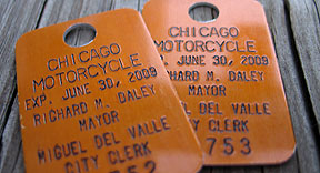 Chicago motorcycle medallions 2008